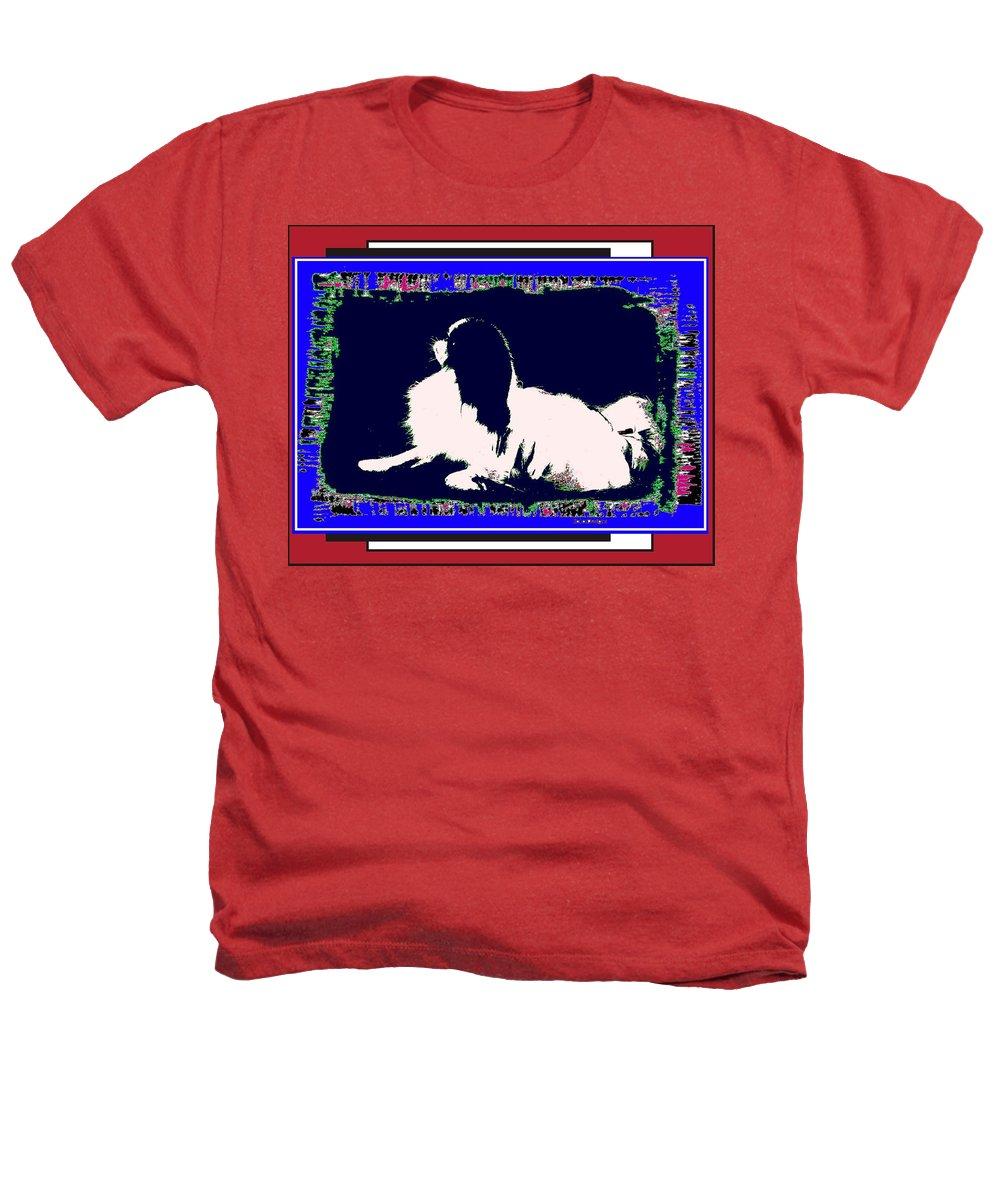 Mod Dog Heathers T-Shirt featuring the digital art Mod Dog by Kathleen Sepulveda