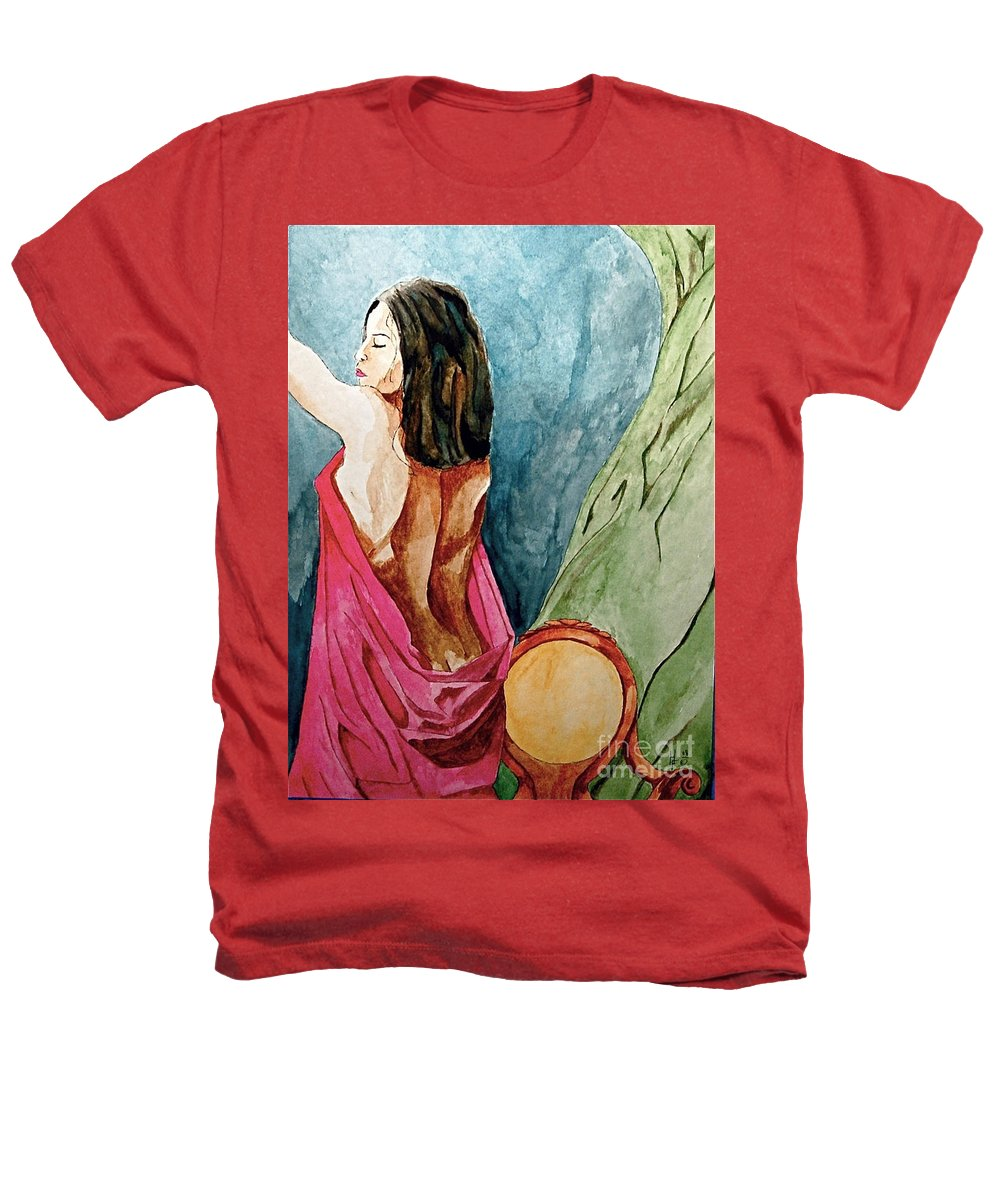 Nudes Women Heathers T-Shirt featuring the painting Morning Light by Herschel Fall