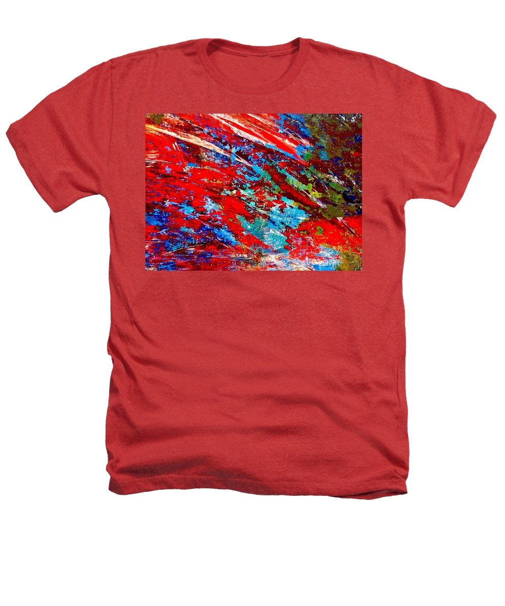 Abstract Heathers T-Shirt featuring the painting Nature Harmony by Natalie Holland