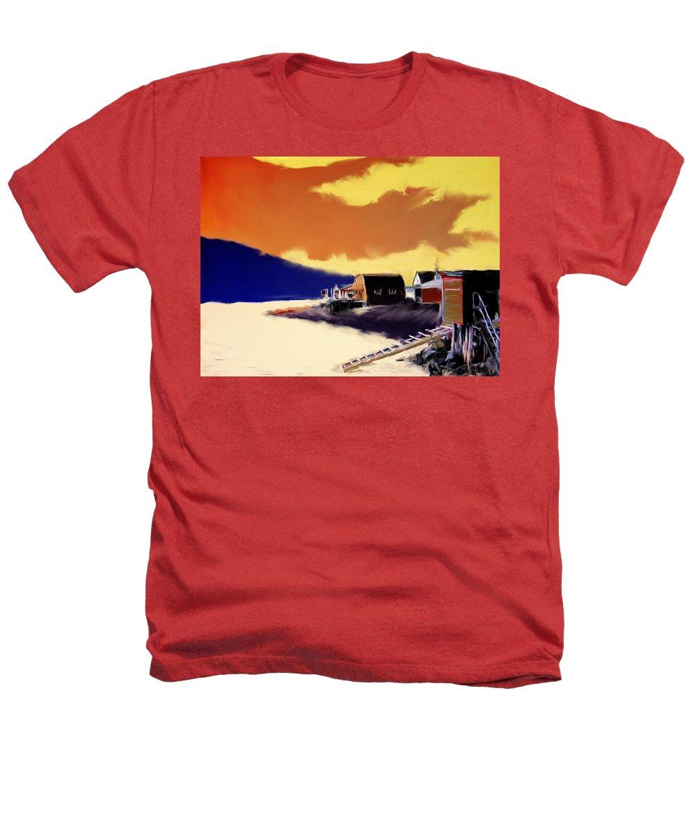 Newfoundland Heathers T-Shirt featuring the photograph Newfoundland Fishing Shacks by Ian MacDonald