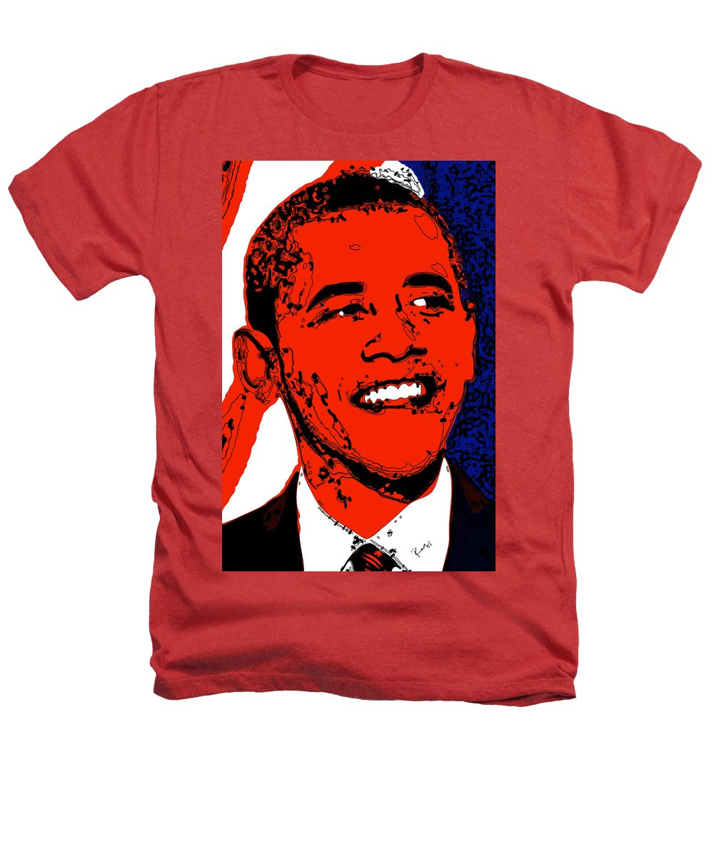 African Heathers T-Shirt featuring the digital art Obama Hope by Rabi Khan