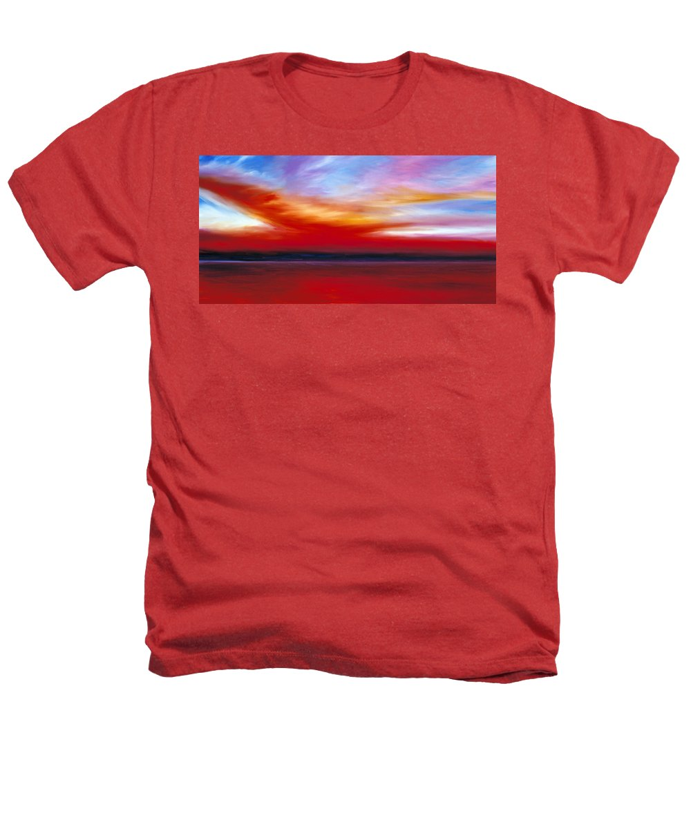 Clouds Heathers T-Shirt featuring the painting October Sky by James Christopher Hill