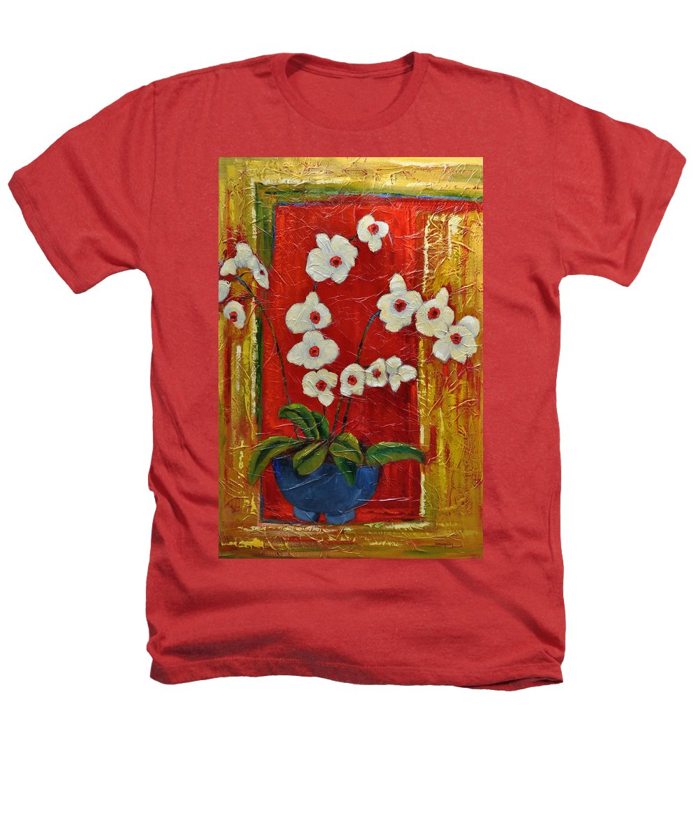 Orchids Heathers T-Shirt featuring the painting Ode To Orchids by Ginger Concepcion