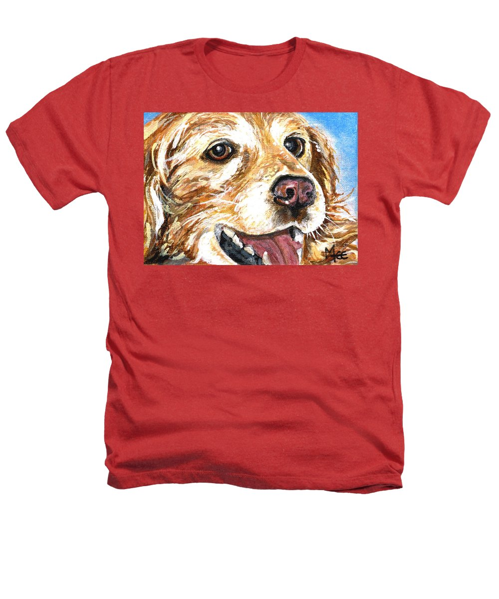 Charity Heathers T-Shirt featuring the painting Oliver From Muttville by Mary-Lee Sanders