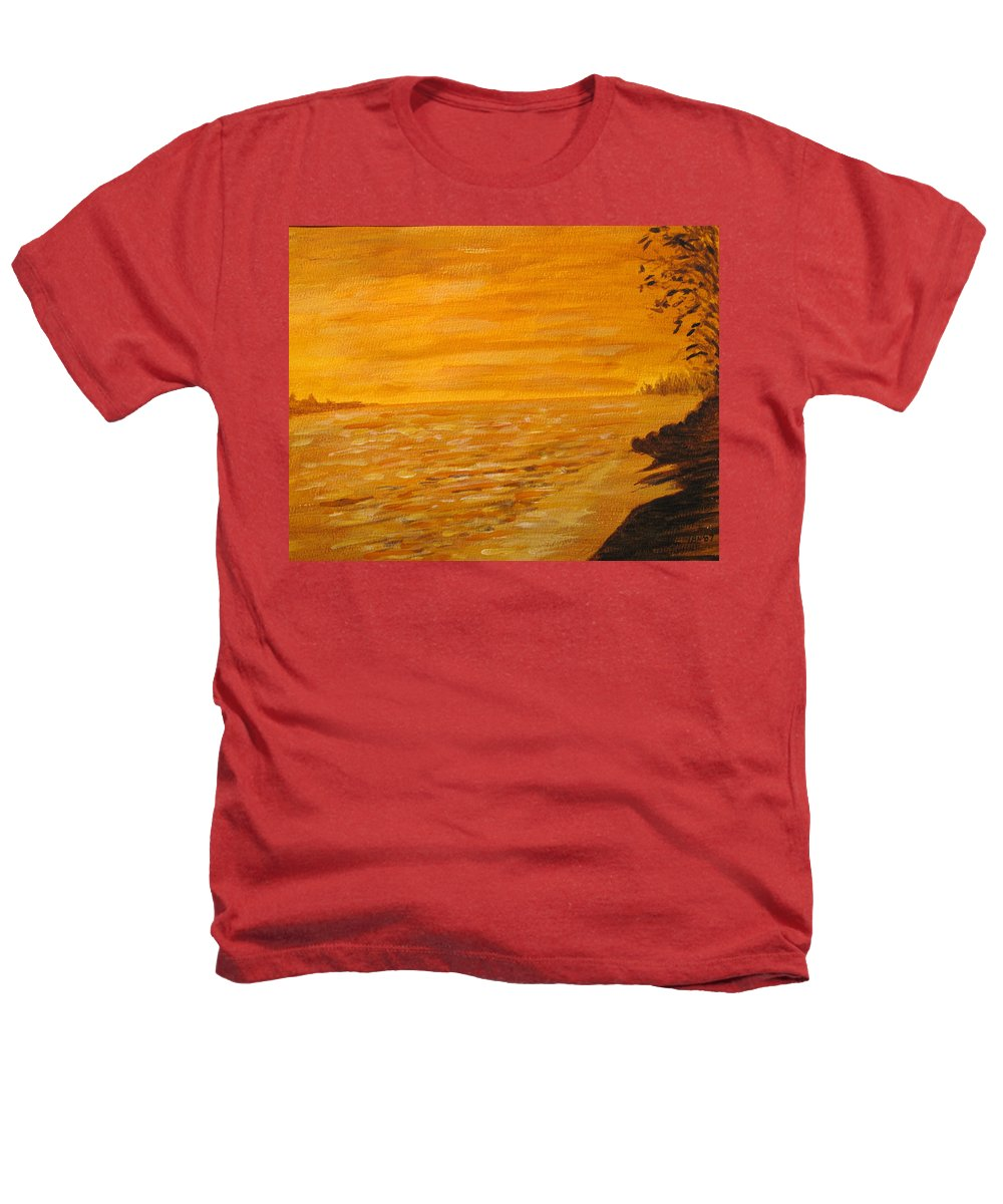 Ocean Heathers T-Shirt featuring the painting Orange Beach by Ian MacDonald