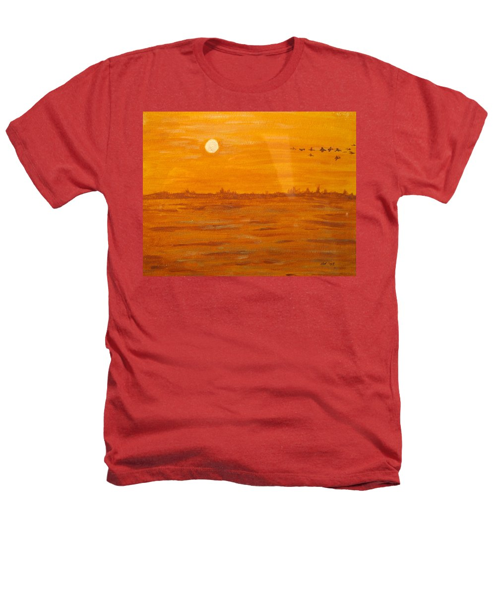 Orange Heathers T-Shirt featuring the painting Orange Ocean by Ian MacDonald