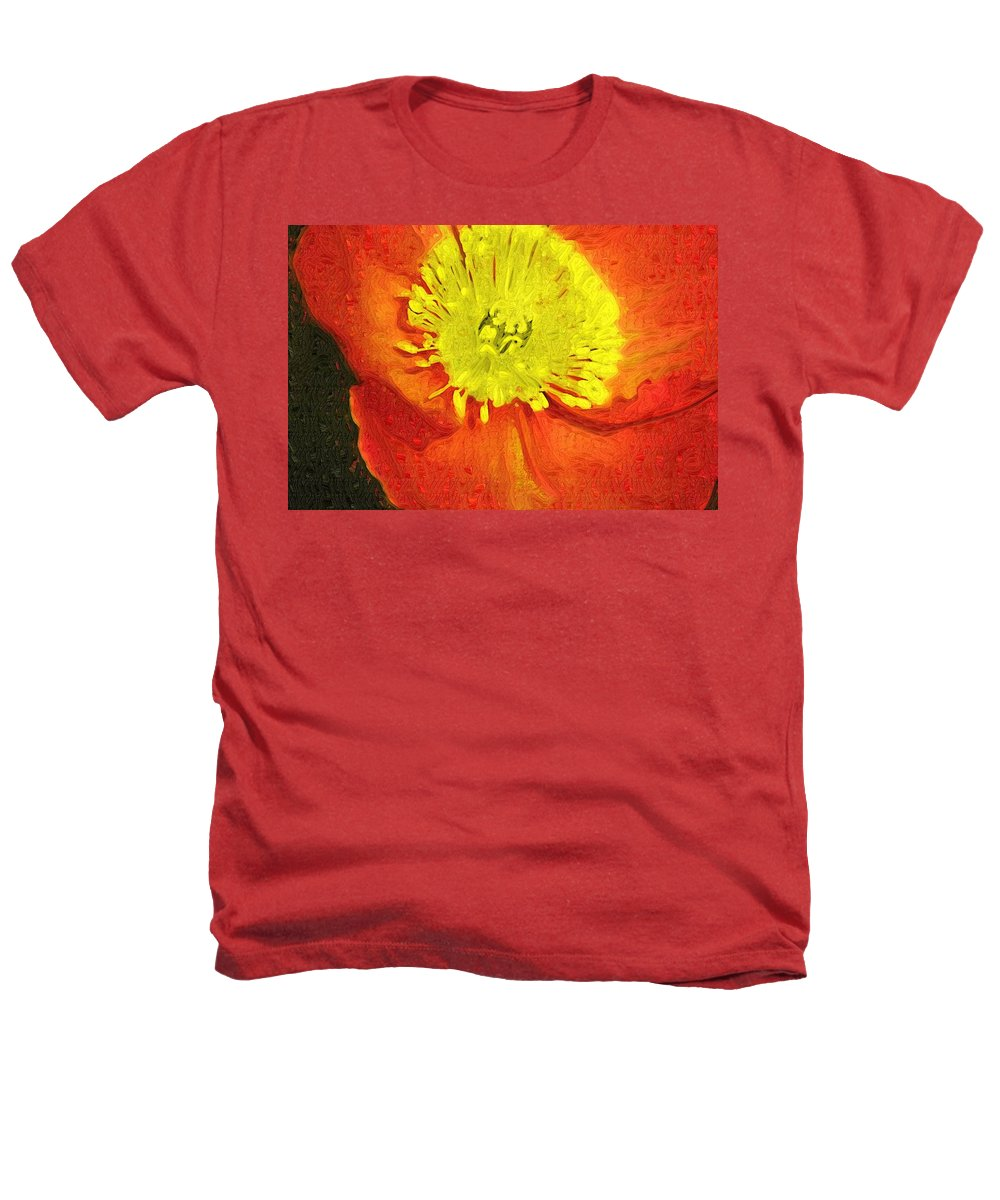 Poppy Heathers T-Shirt featuring the photograph Orange Poppy by Donna Bentley