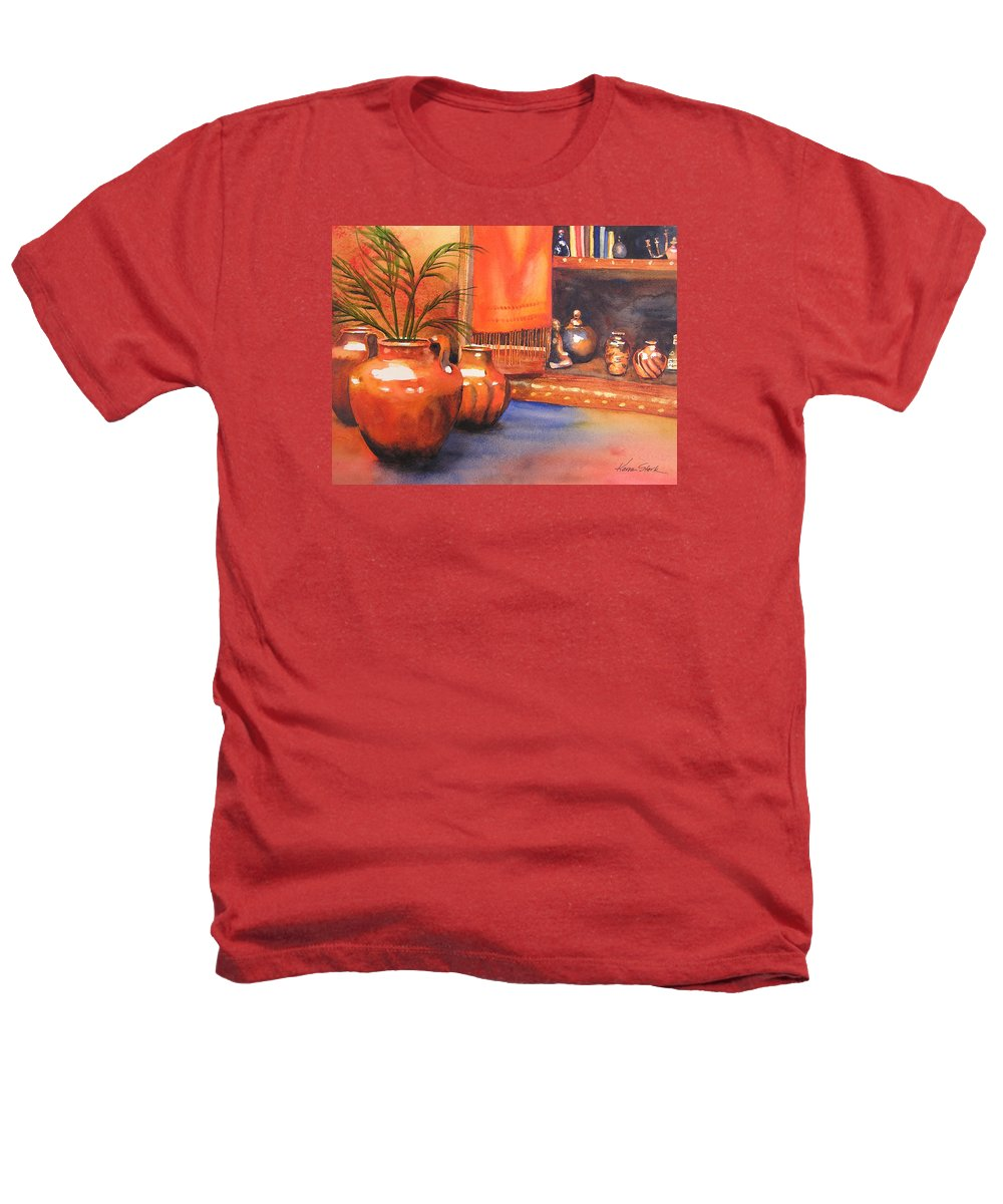 Pottery Heathers T-Shirt featuring the painting Orange Scarf by Karen Stark