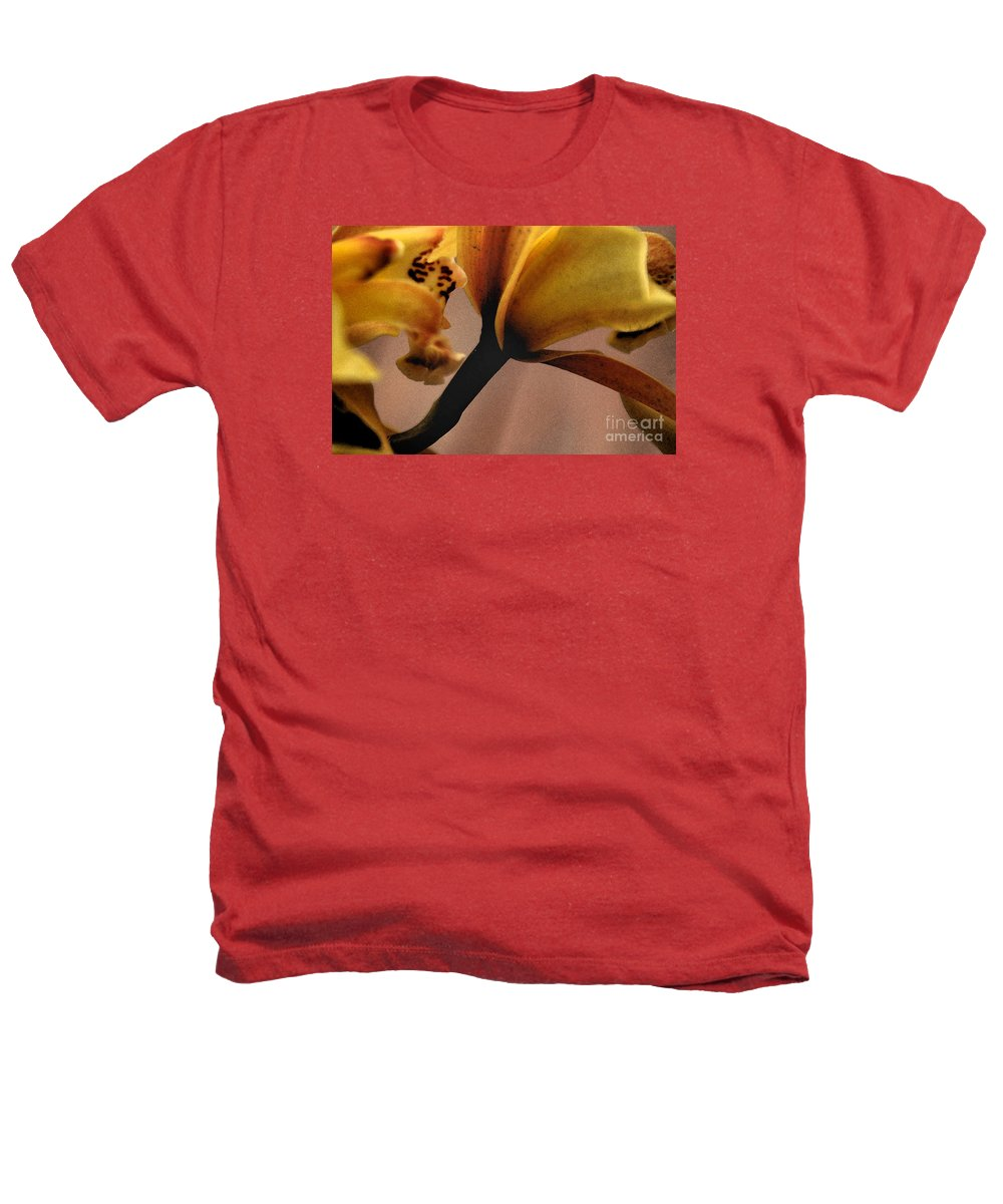 Orchid Heathers T-Shirt featuring the photograph Orchid Yellow by Michael Ziegler