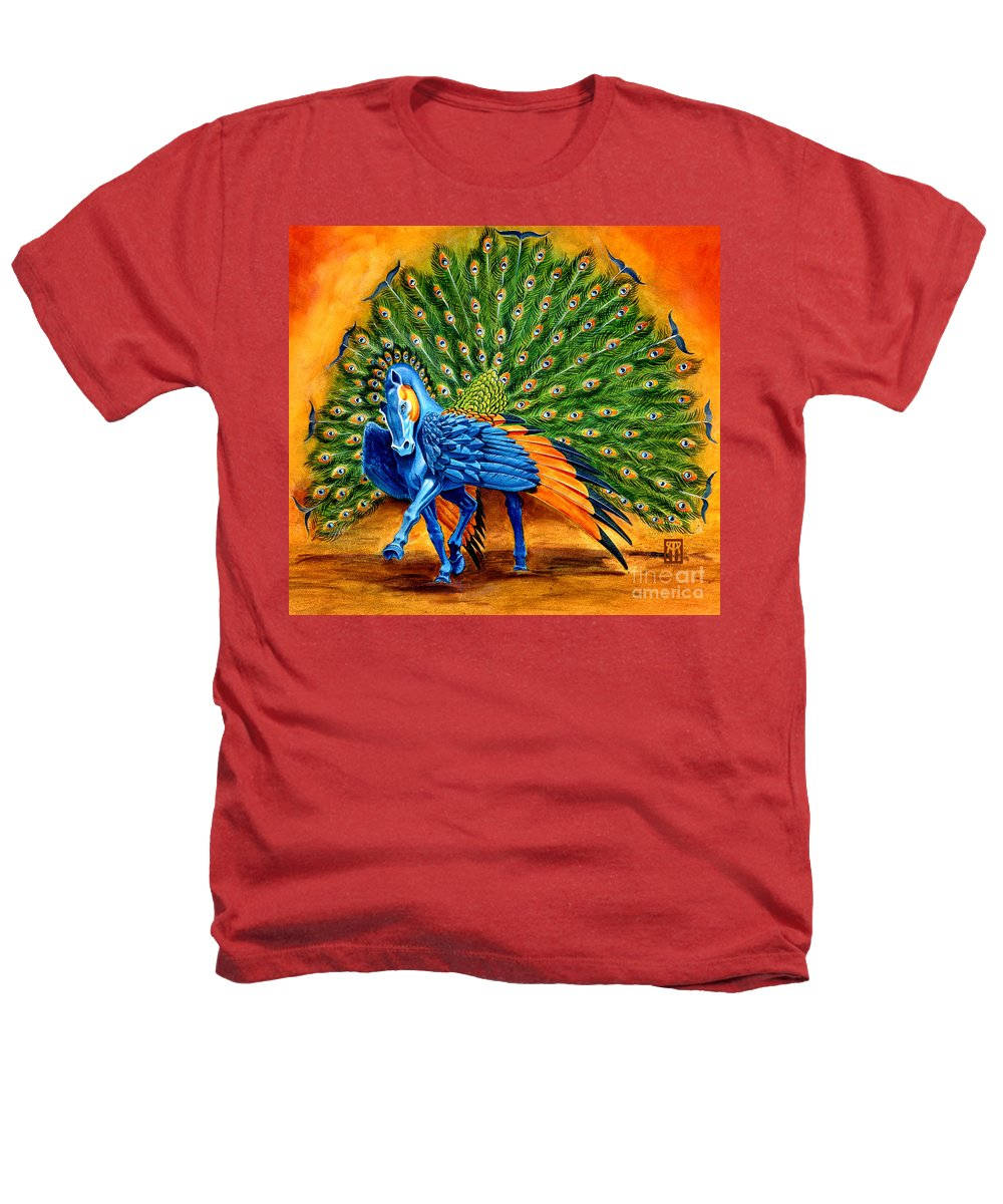 Horse Heathers T-Shirt featuring the painting Peacock Pegasus by Melissa A Benson