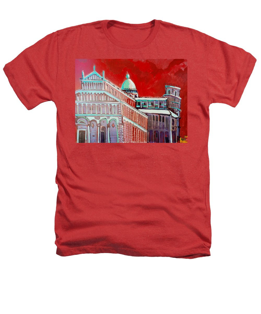 Pisa Heathers T-Shirt featuring the painting Pisa by Kurt Hausmann