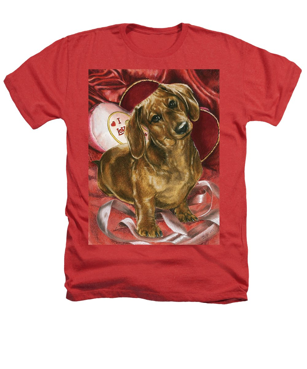 Dogs Heathers T-Shirt featuring the mixed media Please Be Mine by Barbara Keith