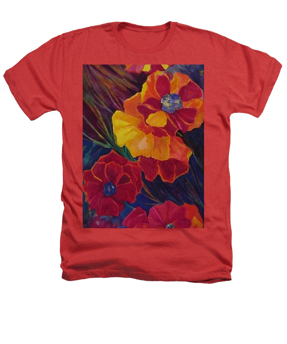 Flowers Heathers T-Shirt featuring the painting Poppies by Carolyn LeGrand