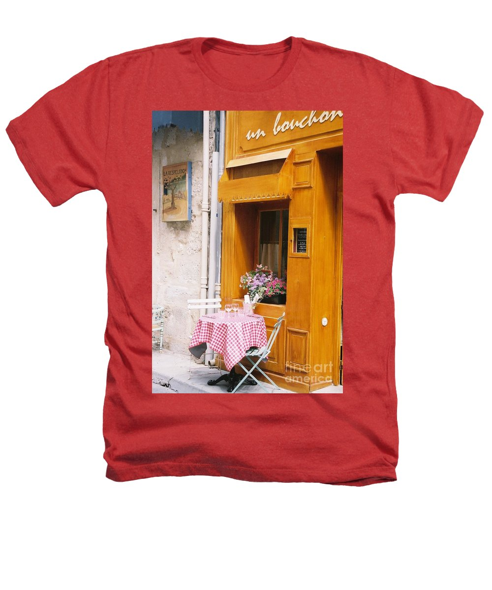 Cafe Heathers T-Shirt featuring the photograph Provence Cafe by Nadine Rippelmeyer