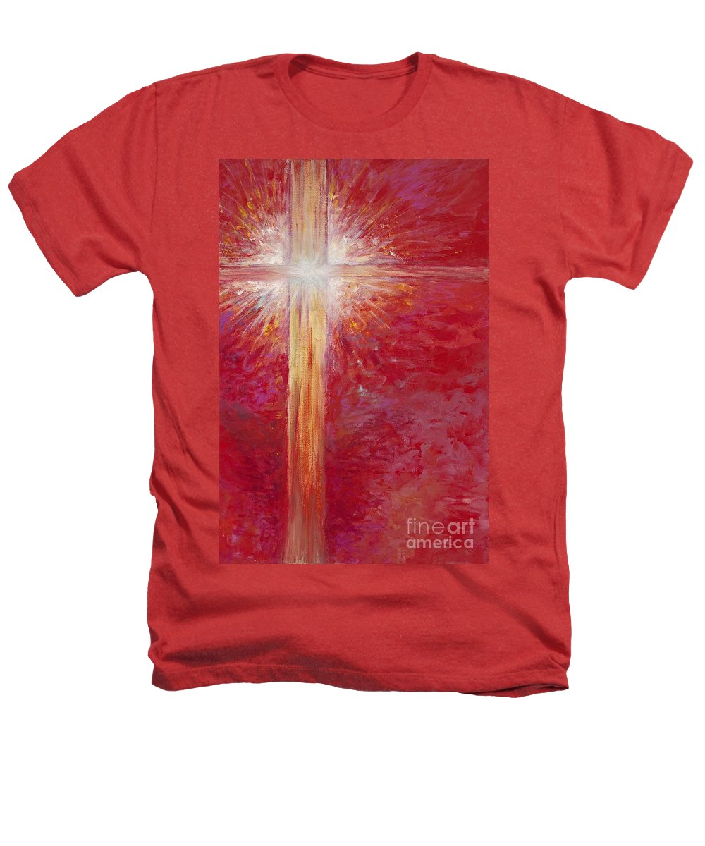 Light Heathers T-Shirt featuring the painting Pure Light by Nadine Rippelmeyer