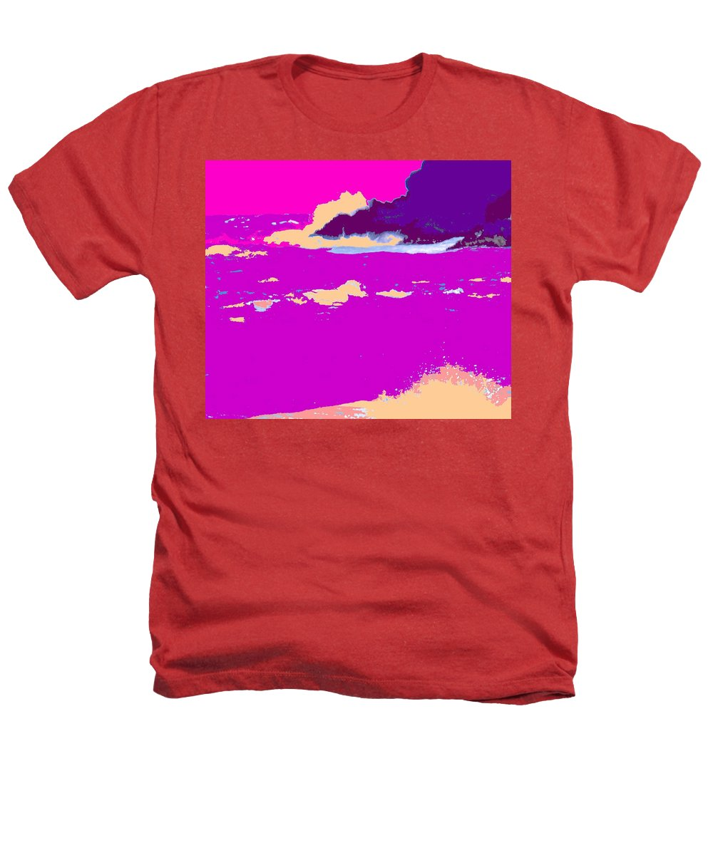 Waves Heathers T-Shirt featuring the photograph Purple Crashing Waves by Ian MacDonald