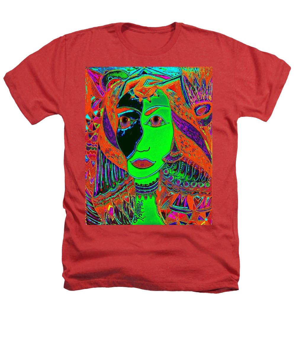 Queen Of The Nile Heathers T-Shirt featuring the painting Queen Of The Nile by Natalie Holland