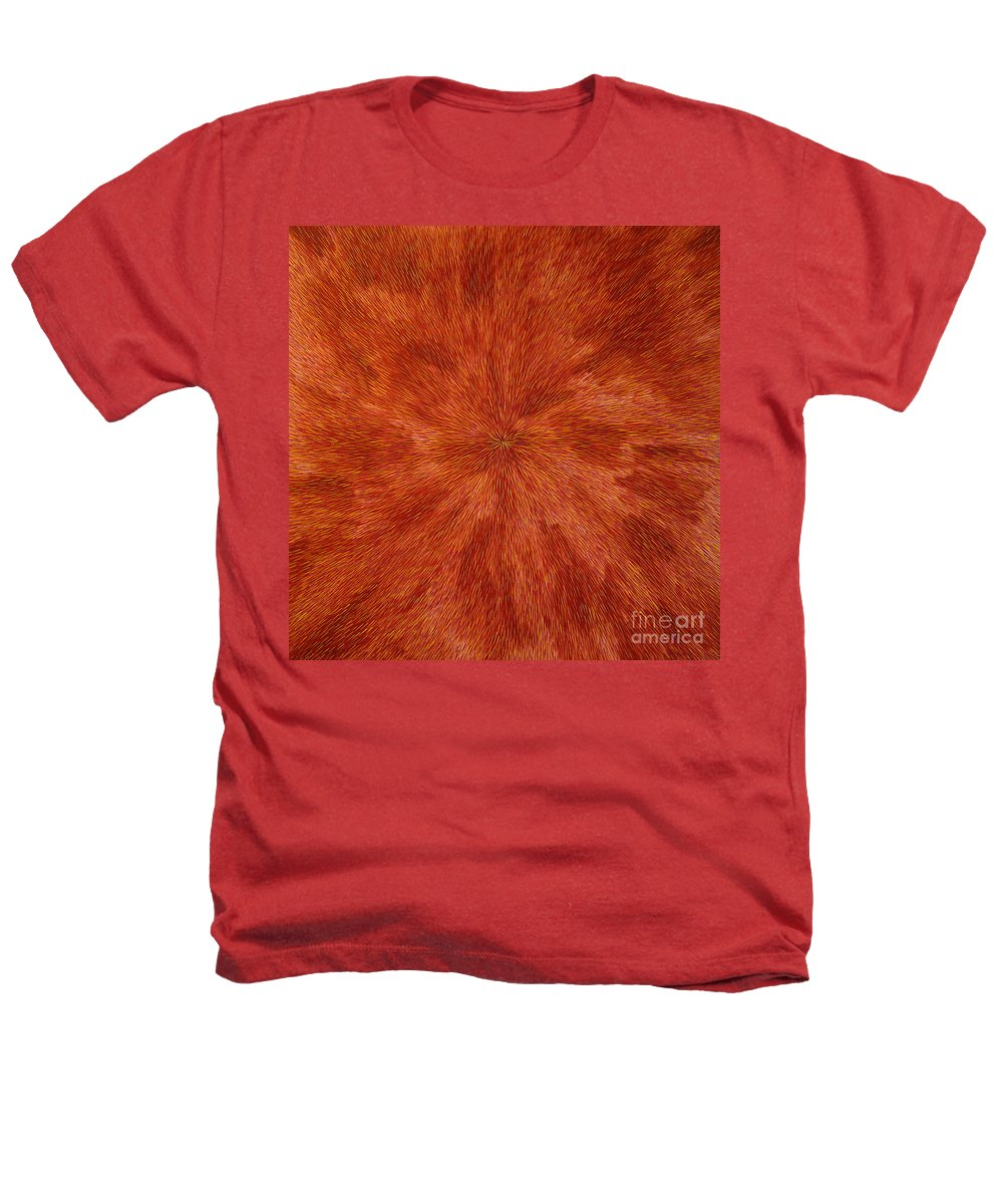 Abstract Heathers T-Shirt featuring the painting Radiation With Brown Yellow And Voilet by Dean Triolo