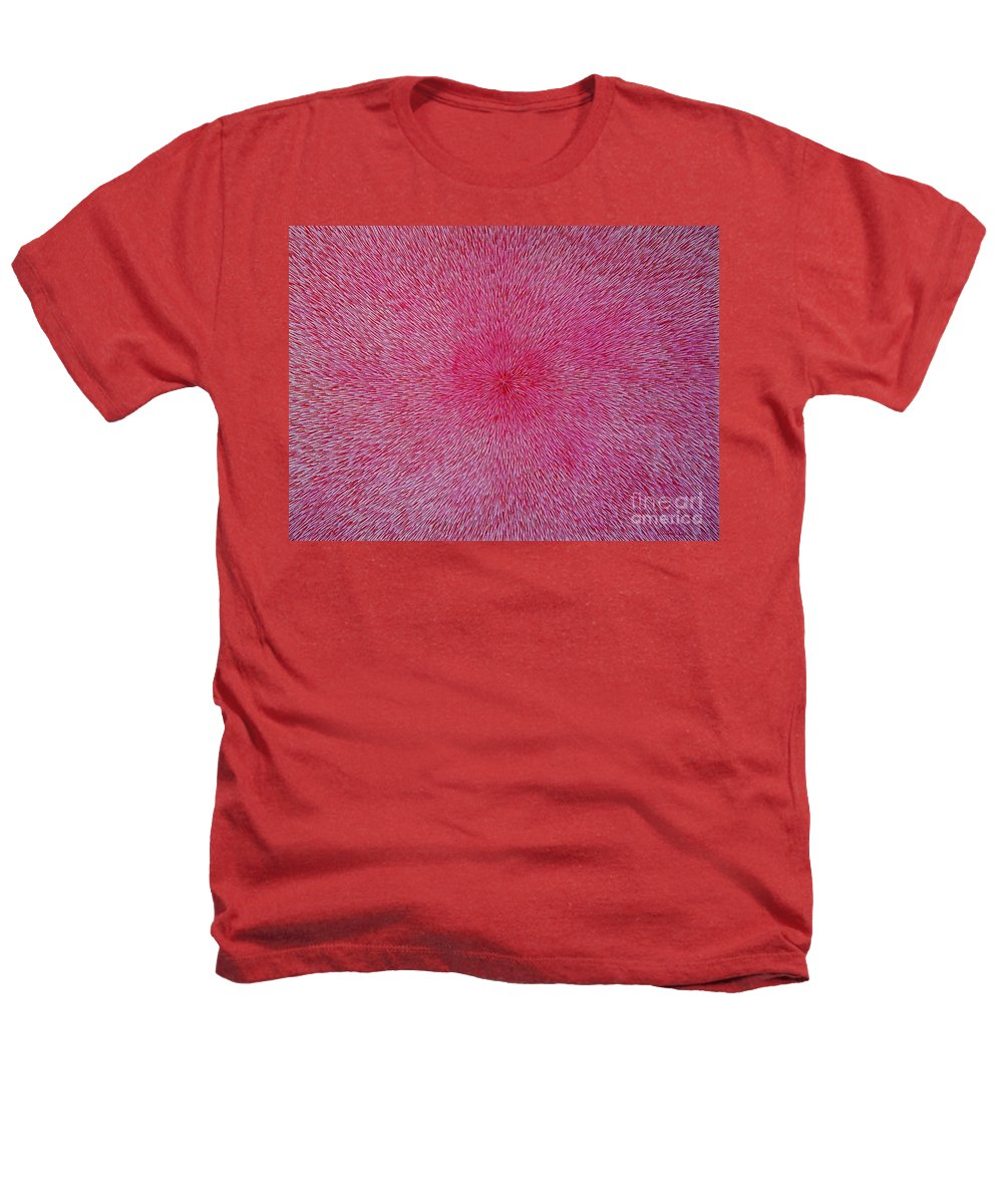 Abstract Heathers T-Shirt featuring the painting Radiation With Pink And Magenta by Dean Triolo