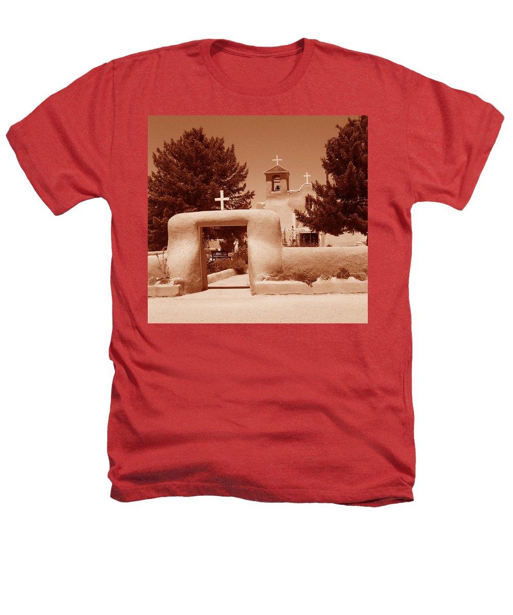 Church Heathers T-Shirt featuring the photograph Ranchos De Taos Church  New Mexico by Wayne Potrafka