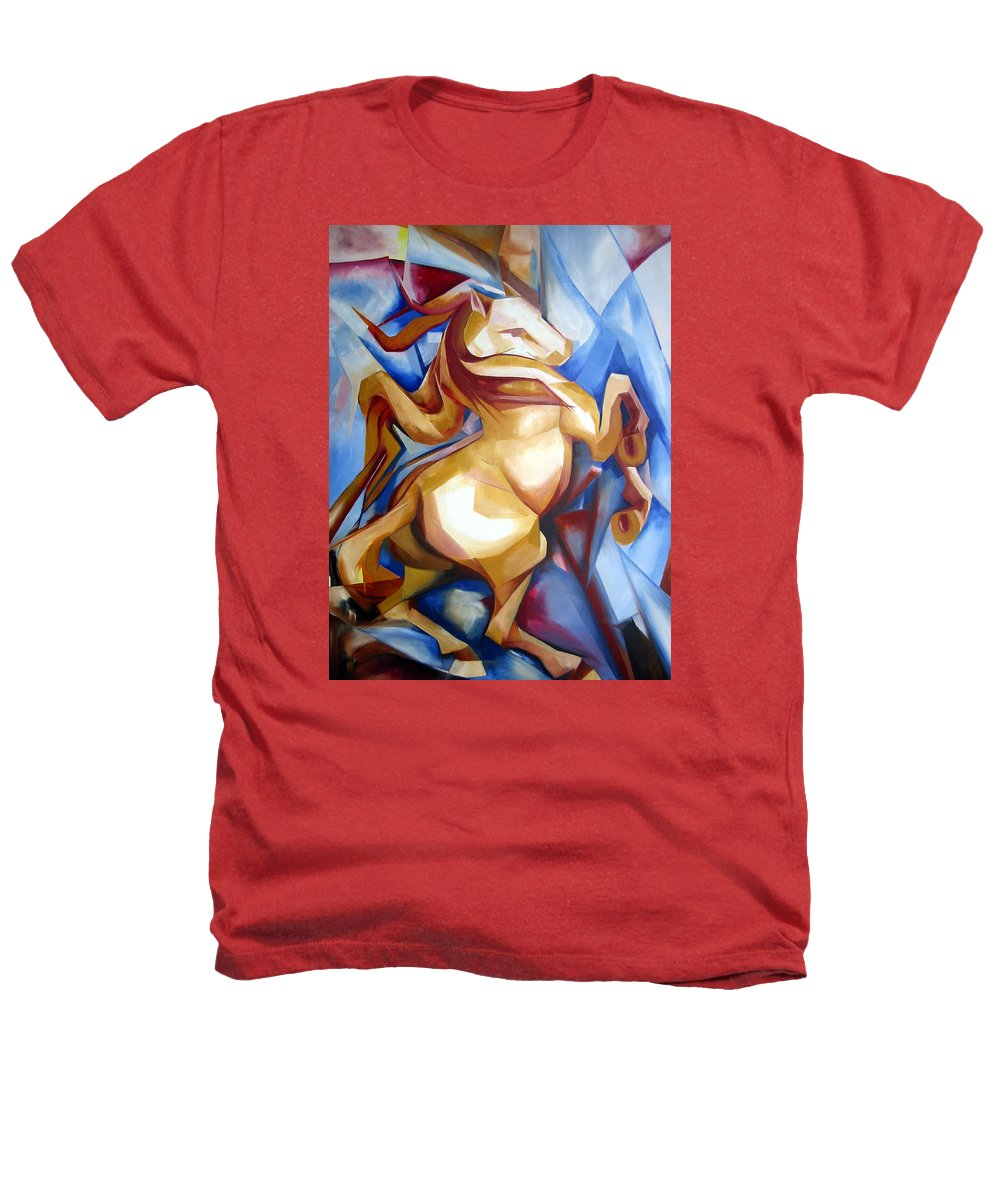Horse Heathers T-Shirt featuring the painting Rearing Horse by Leyla Munteanu