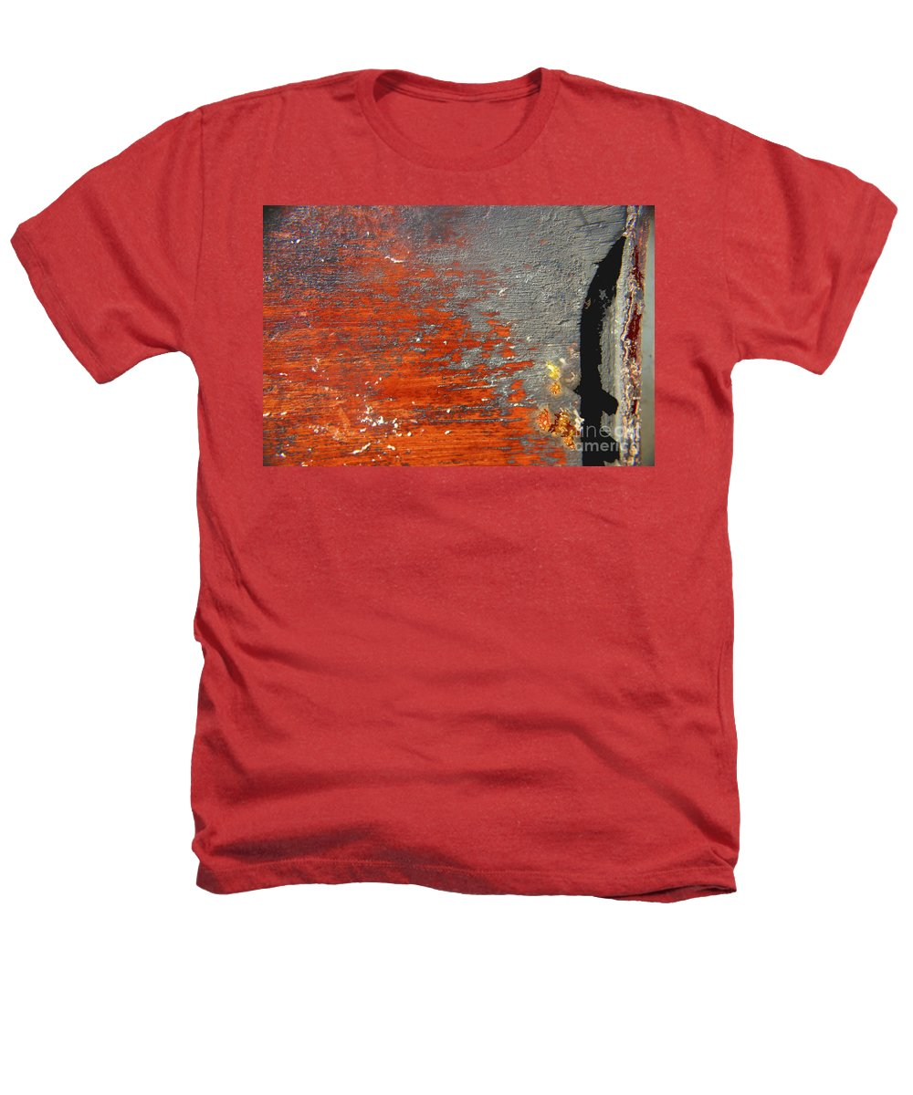 Red Heathers T-Shirt featuring the photograph Red And Grey Abstract by Hana Shalom
