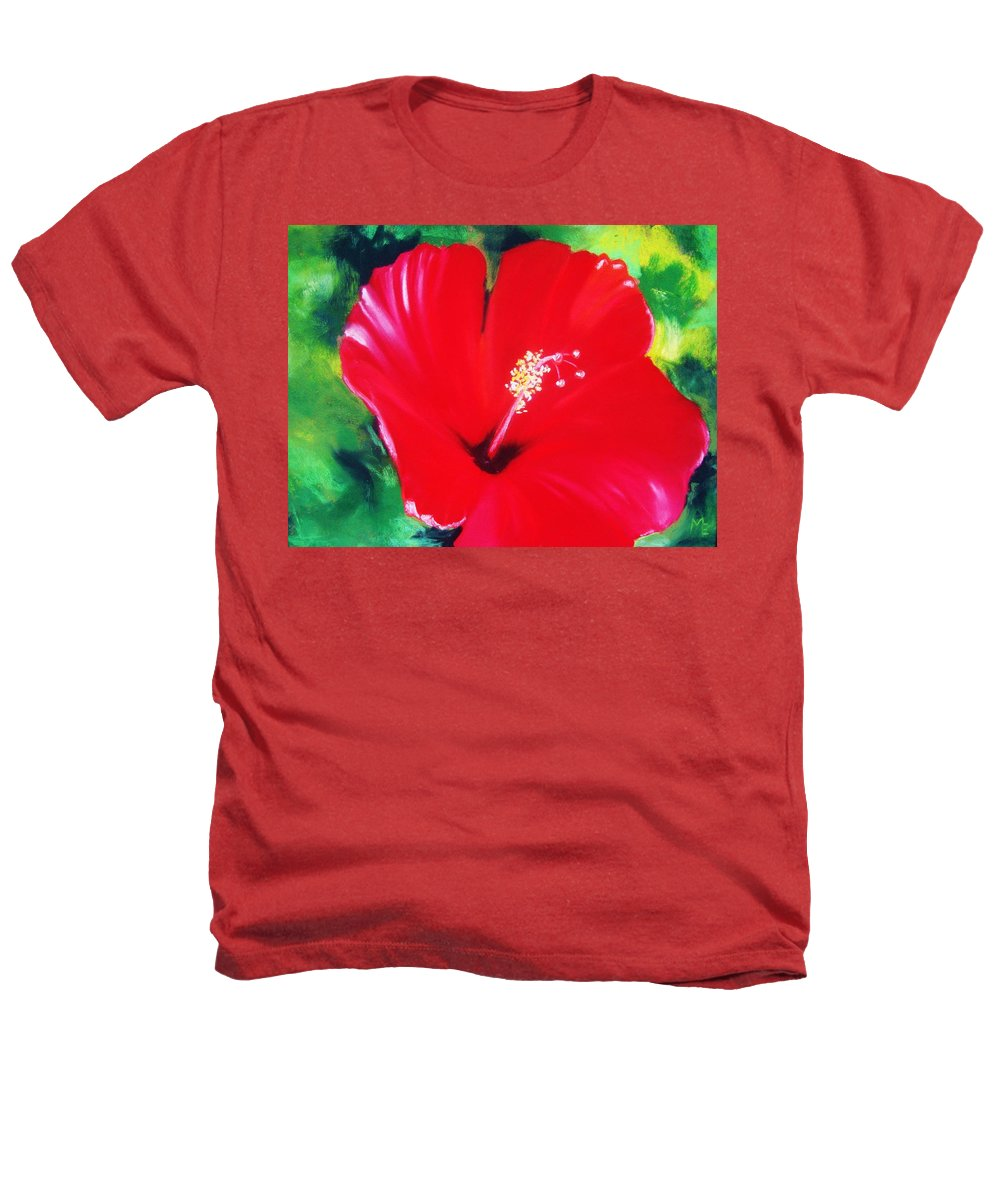 Bright Flower Heathers T-Shirt featuring the painting Red Hibiscus by Melinda Etzold