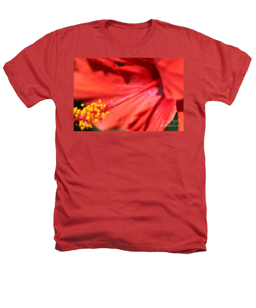 Red Heathers T-Shirt featuring the photograph Red Hibiscus by Nadine Rippelmeyer