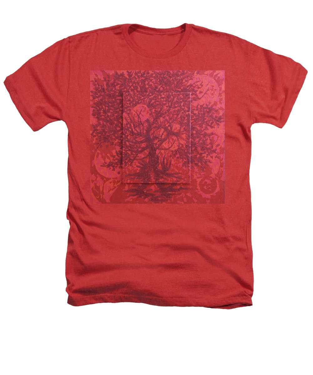 Red Heathers T-Shirt featuring the painting Red Planet by Judy Henninger