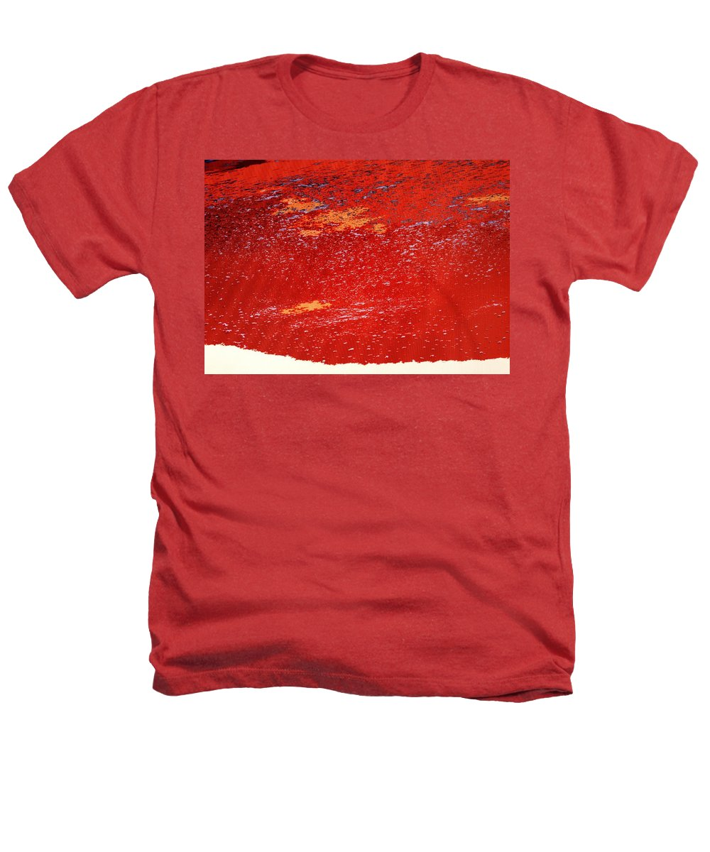 Red Heathers T-Shirt featuring the photograph Red Surf On The Beach by Ian MacDonald