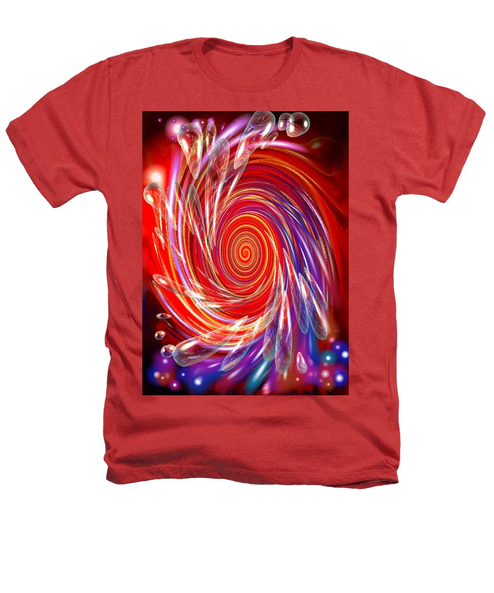 Red Heathers T-Shirt featuring the digital art Red Twirl by Natalie Holland