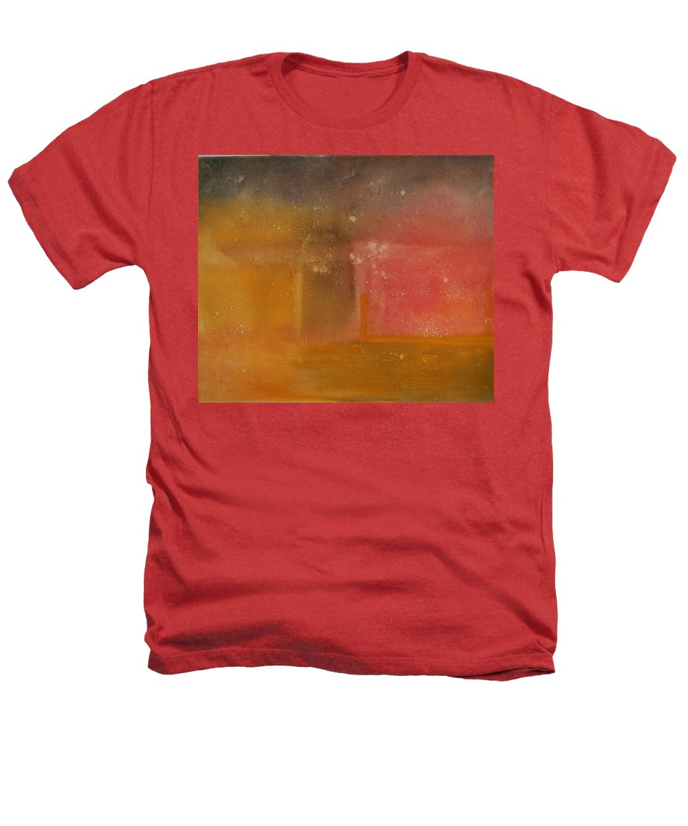 Storm Summer Red Yellow Gold Heathers T-Shirt featuring the painting Reflection Summer Storm by Jack Diamond