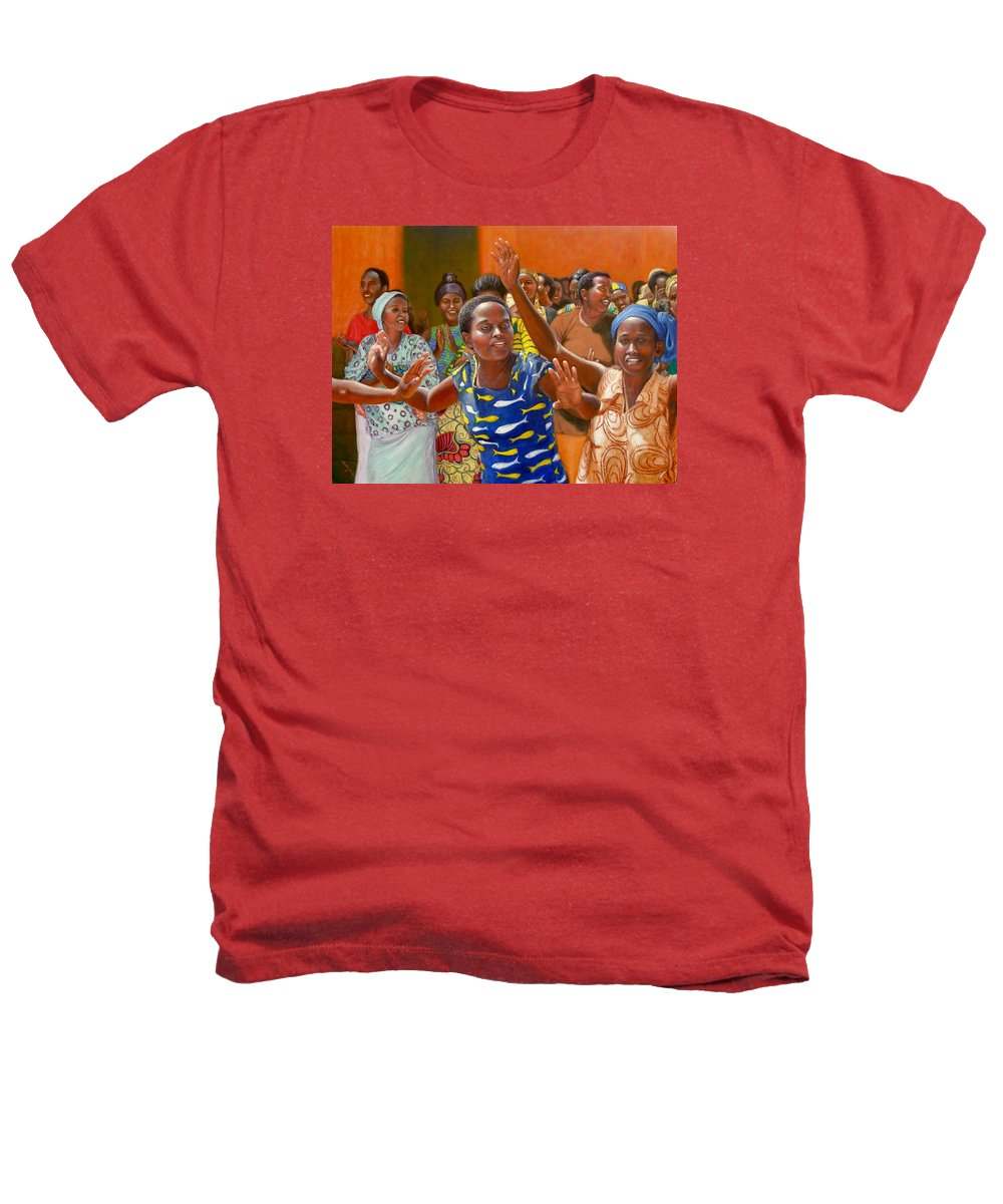 Realism Heathers T-Shirt featuring the painting Rejoice by Donelli DiMaria