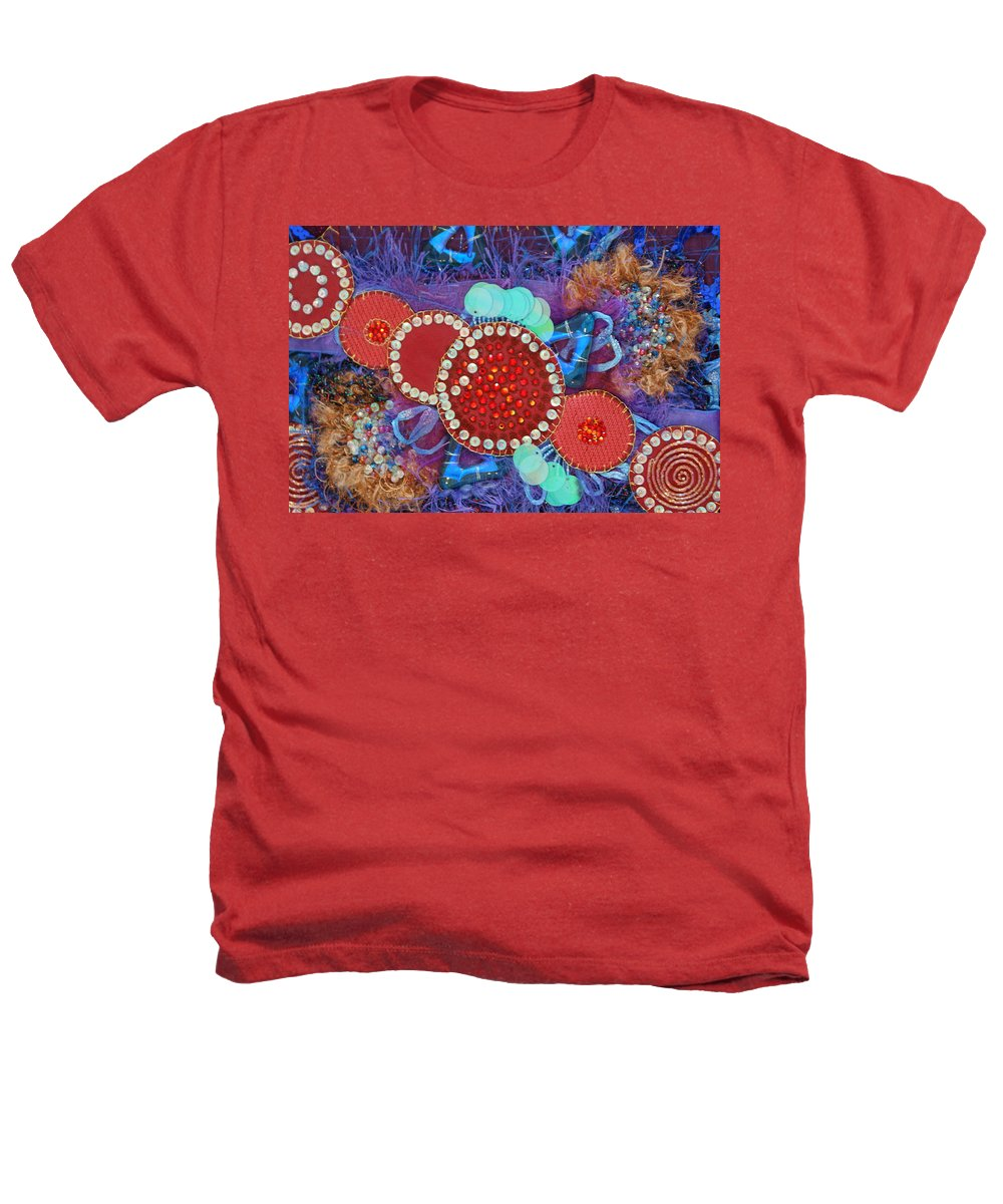 Heathers T-Shirt featuring the mixed media Ruby Slippers 2 by Judy Henninger