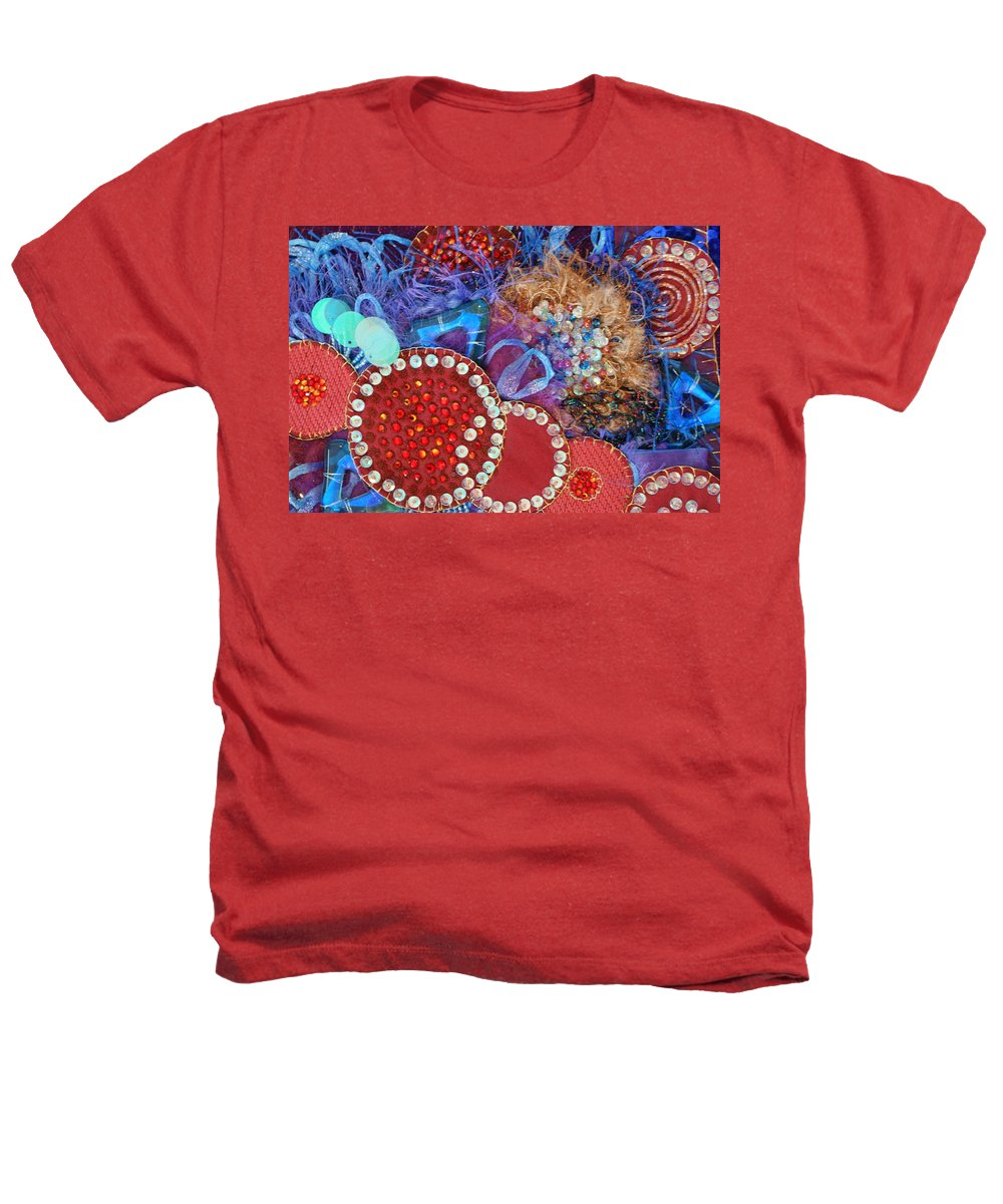 Heathers T-Shirt featuring the mixed media Ruby Slippers 3 by Judy Henninger