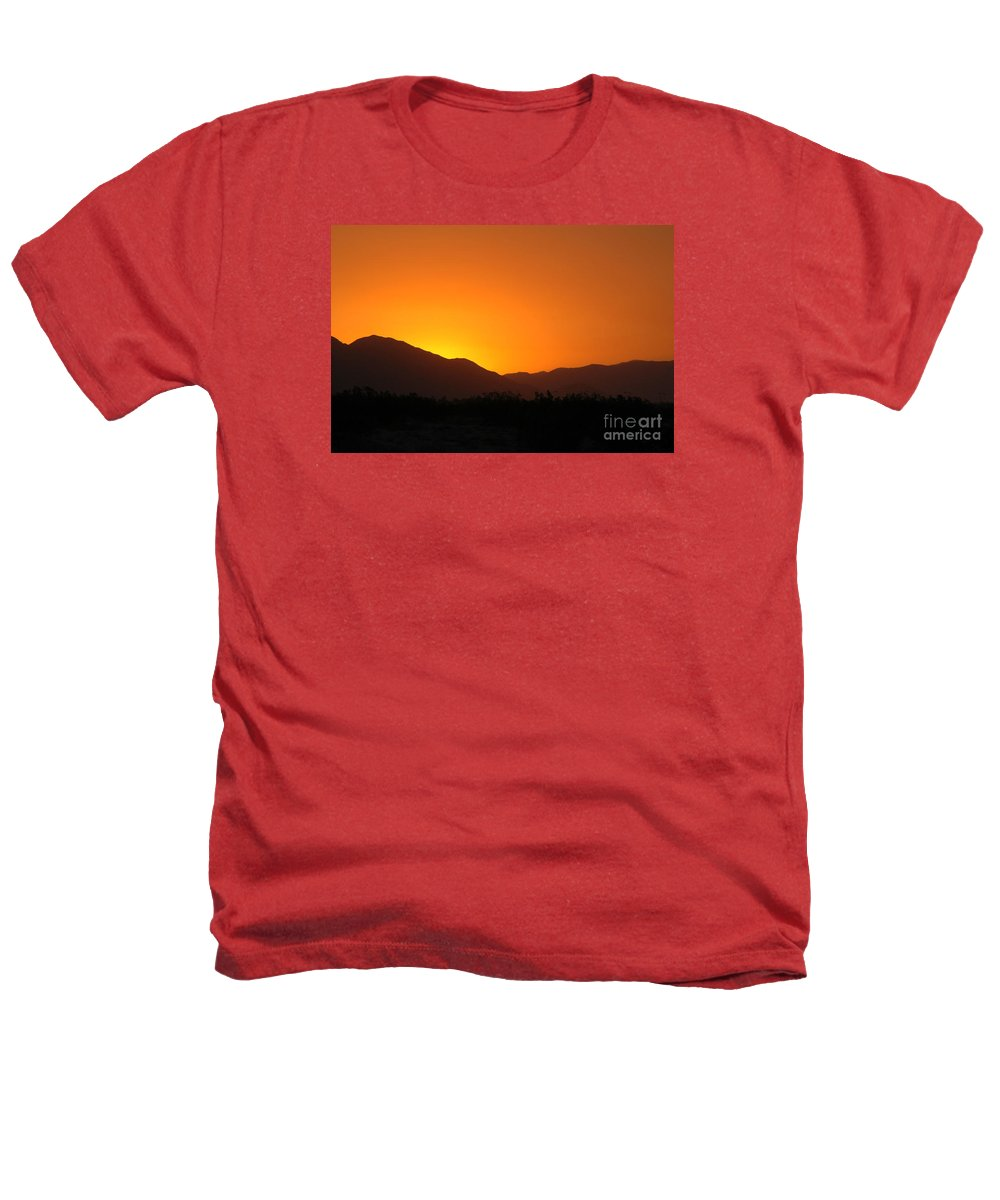 Sunset Heathers T-Shirt featuring the photograph San Jacinto Dusk Near Palm Springs by Michael Ziegler