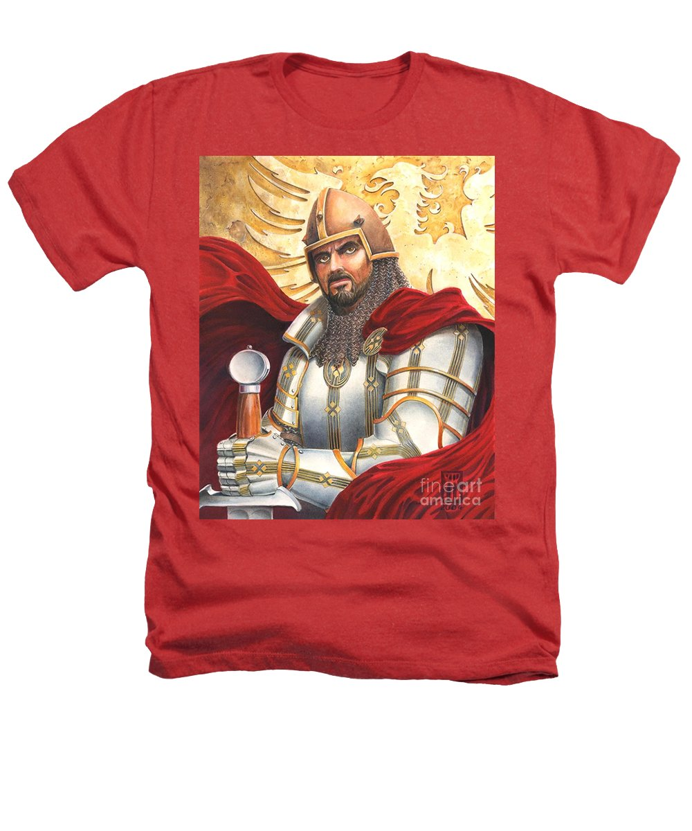 Swords Heathers T-Shirt featuring the drawing Sir Gawain by Melissa A Benson