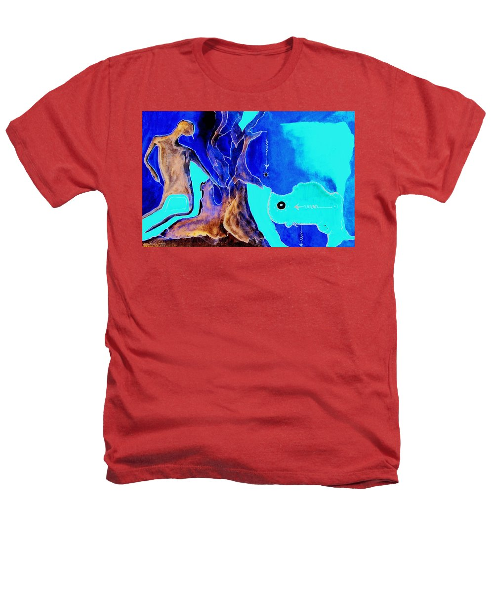 Game Direction Abstract Red Man Heathers T-Shirt featuring the painting Sophogame by Veronica Jackson