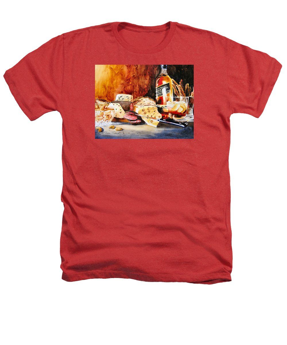 Scotch Heathers T-Shirt featuring the painting Spirited Indulgences by Karen Stark