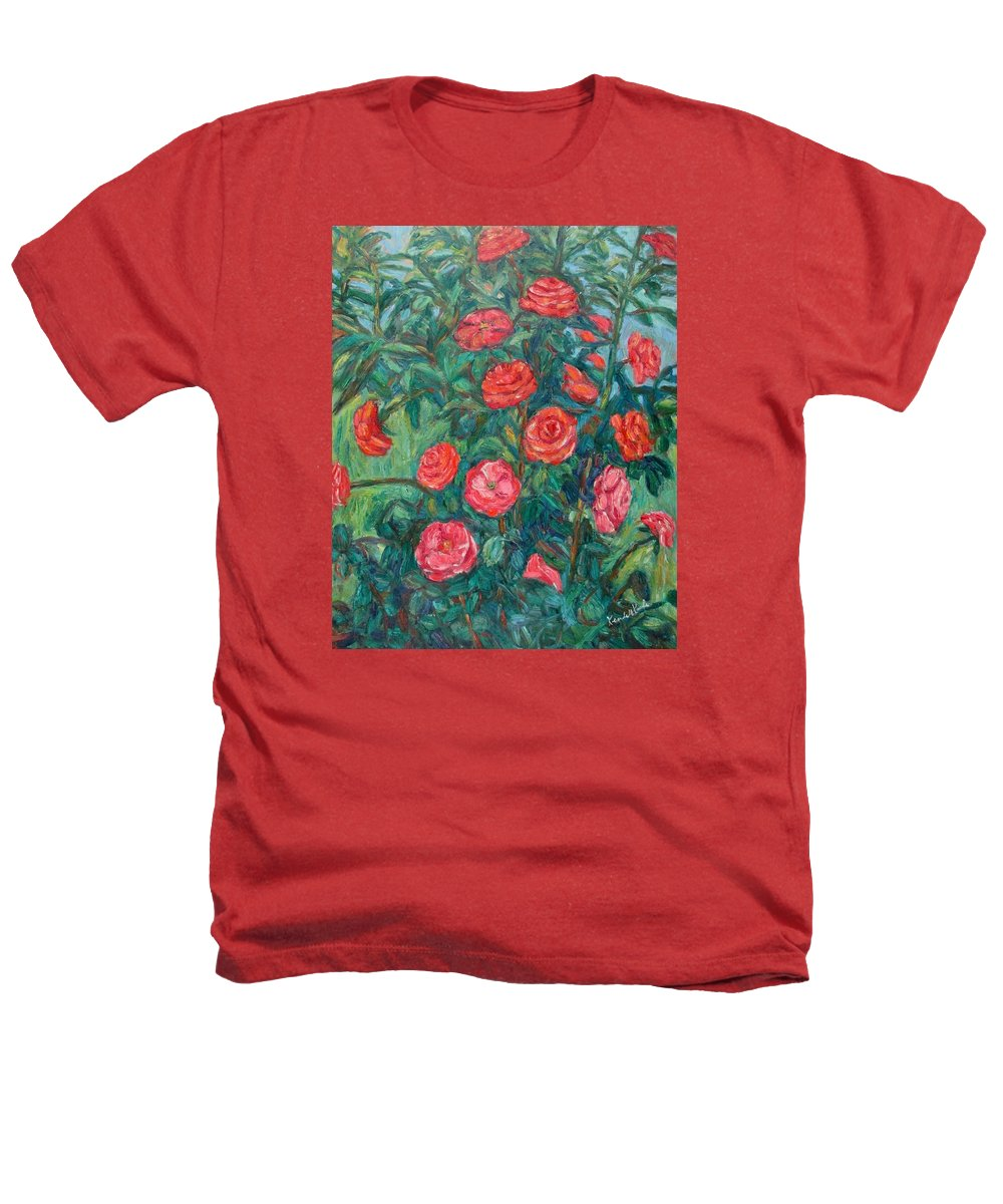 Rose Heathers T-Shirt featuring the painting Spring Roses by Kendall Kessler