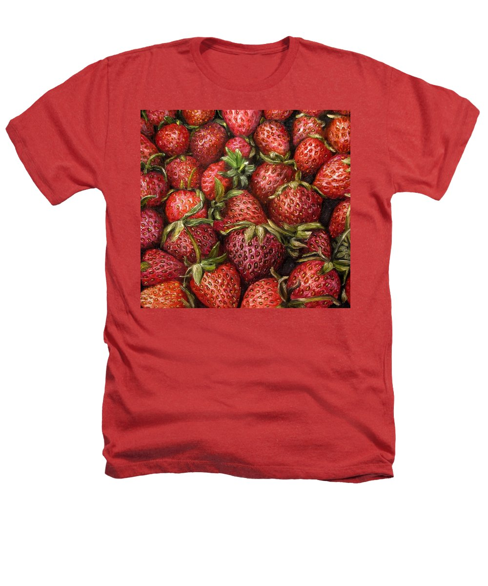 Strawberries Heathers T-Shirt featuring the painting Strawberries -2 Contemporary Oil Painting by Natalja Picugina
