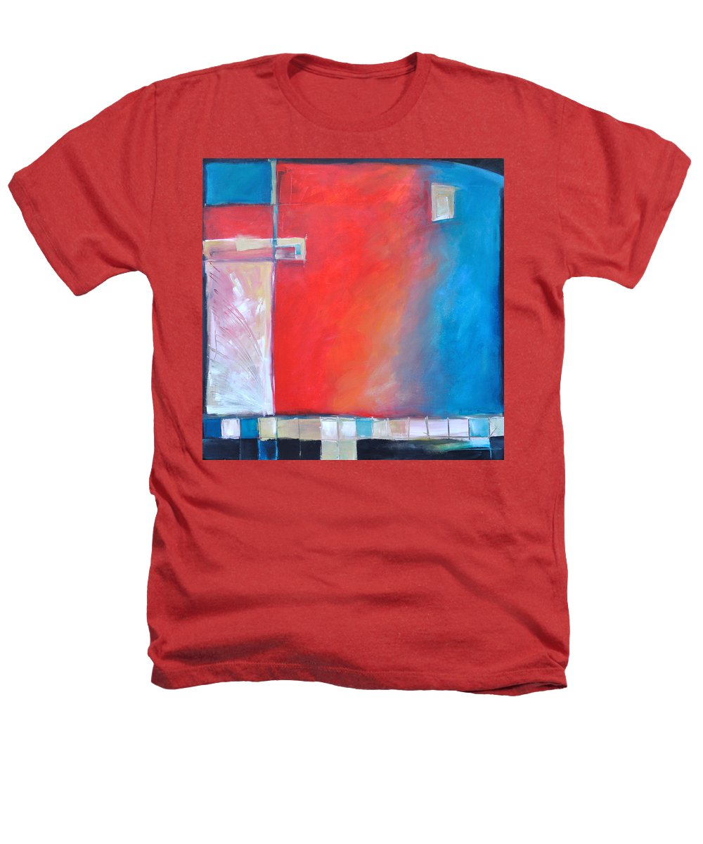 Abstract Heathers T-Shirt featuring the painting Structures And Solitude Revisited by Tim Nyberg
