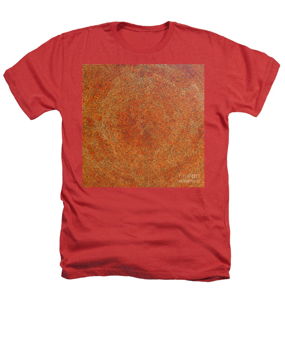 Abstract Heathers T-Shirt featuring the painting Su Gaia Earth by Dean Triolo