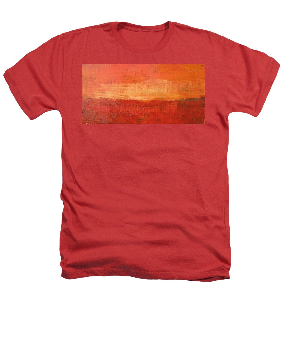 Abstract Heathers T-Shirt featuring the painting Sunset by Habib Ayat