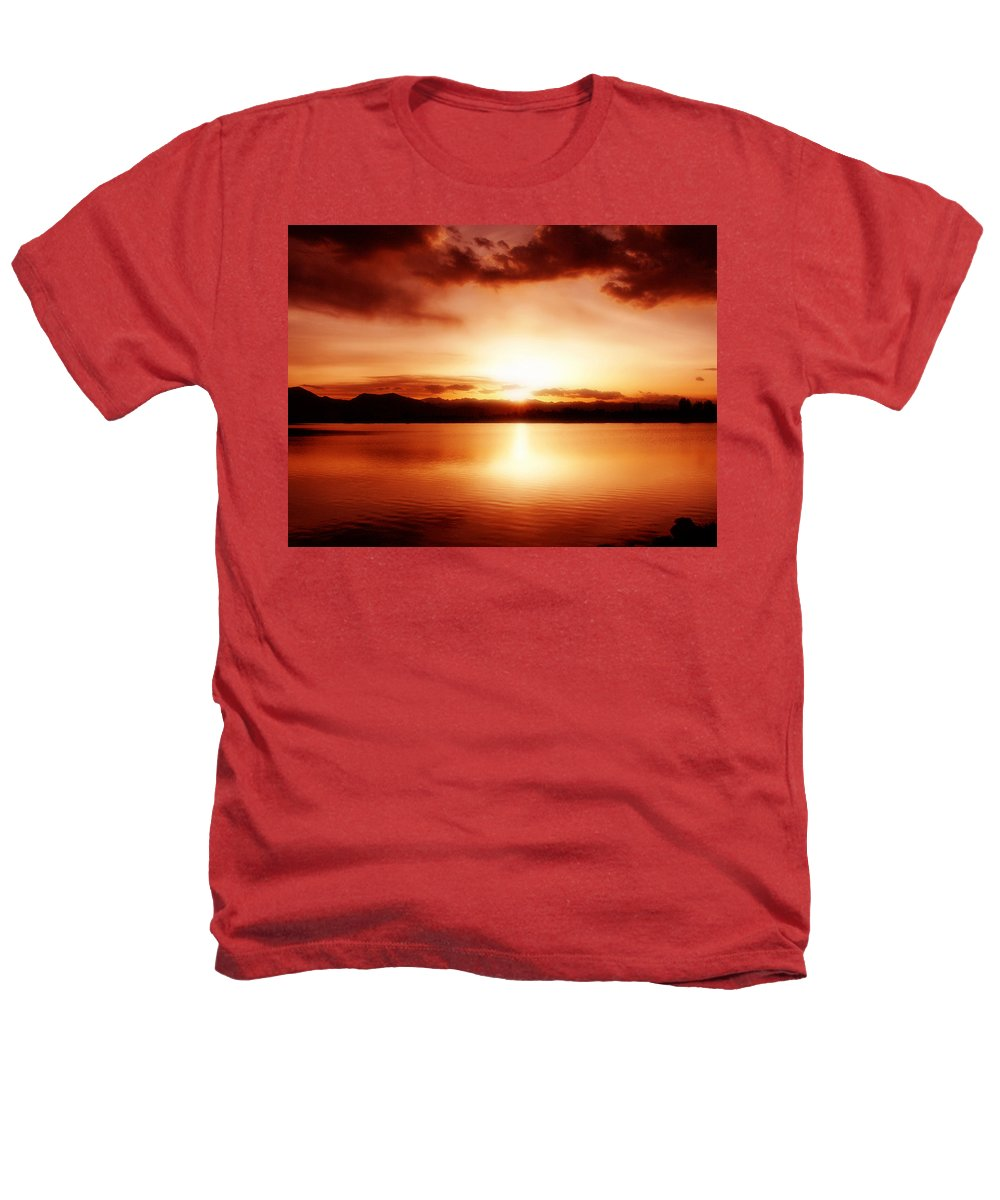 Lake Heathers T-Shirt featuring the photograph Sunset by Marilyn Hunt
