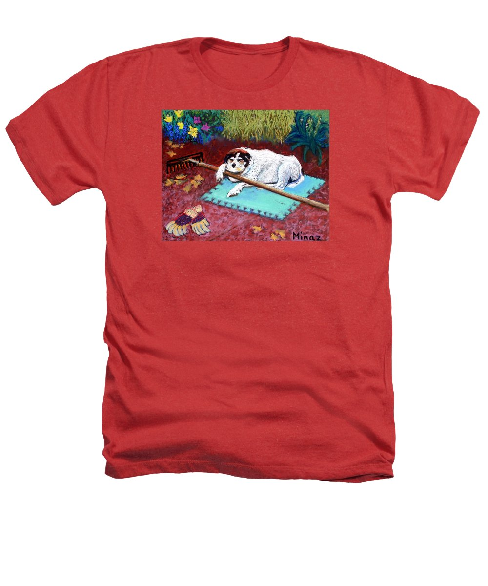 Dog Heathers T-Shirt featuring the painting Take A Break by Minaz Jantz
