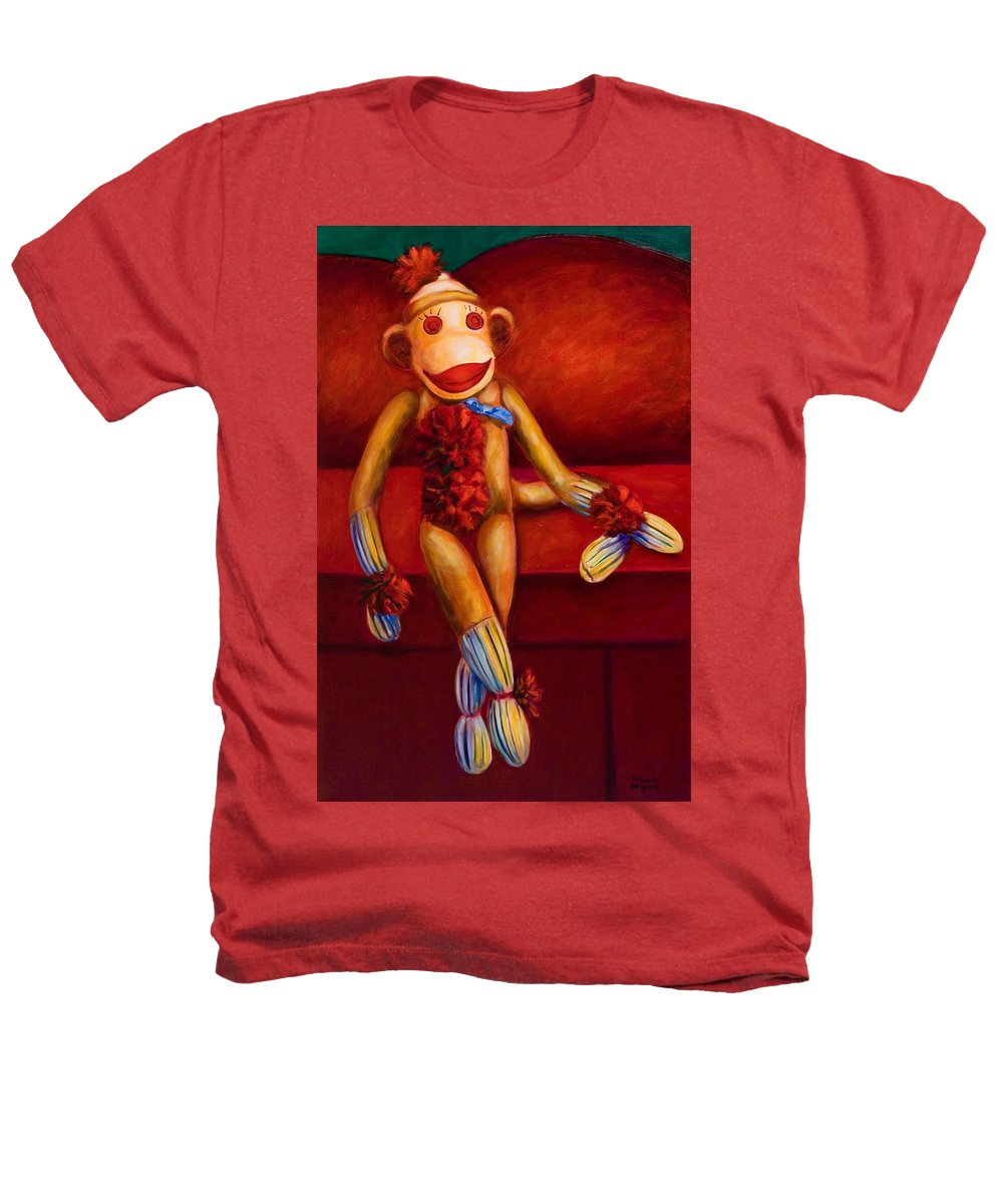 Children Heathers T-Shirt featuring the painting Tell Me All About It by Shannon Grissom