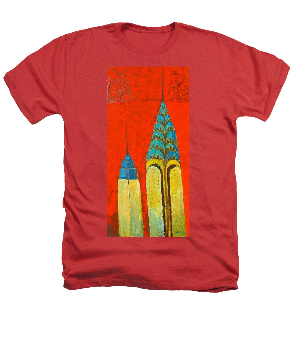 Heathers T-Shirt featuring the painting The Chrysler And The Empire State by Habib Ayat