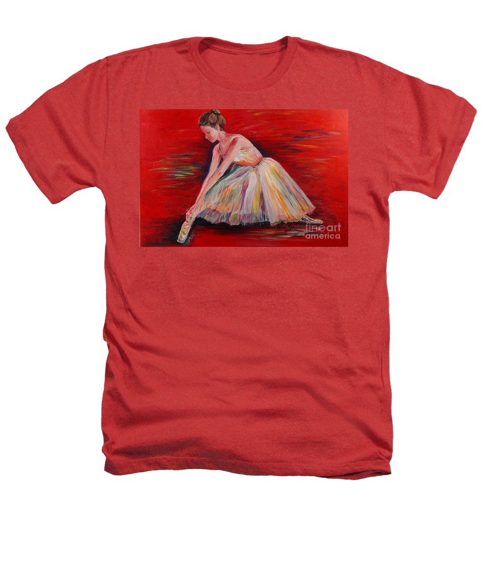 Dancer Heathers T-Shirt featuring the painting The Dancer by Nadine Rippelmeyer