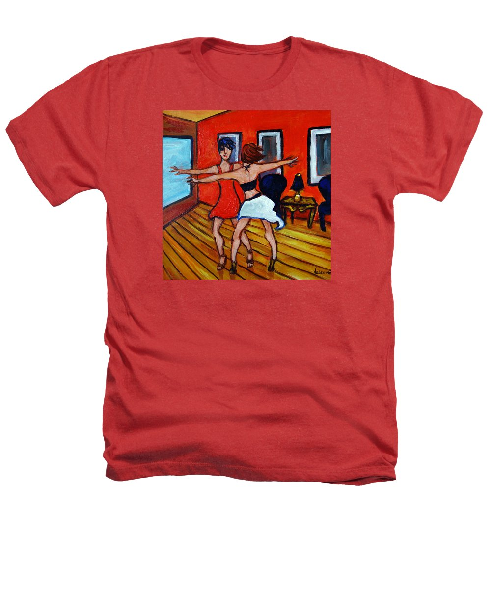 Dancers Heathers T-Shirt featuring the painting The Dancers by Valerie Vescovi